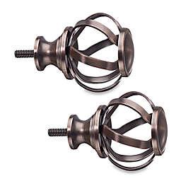 Cambria® Classic Complete Accord Twist Finial in Oil Rubbed Bronze (Set of 2)