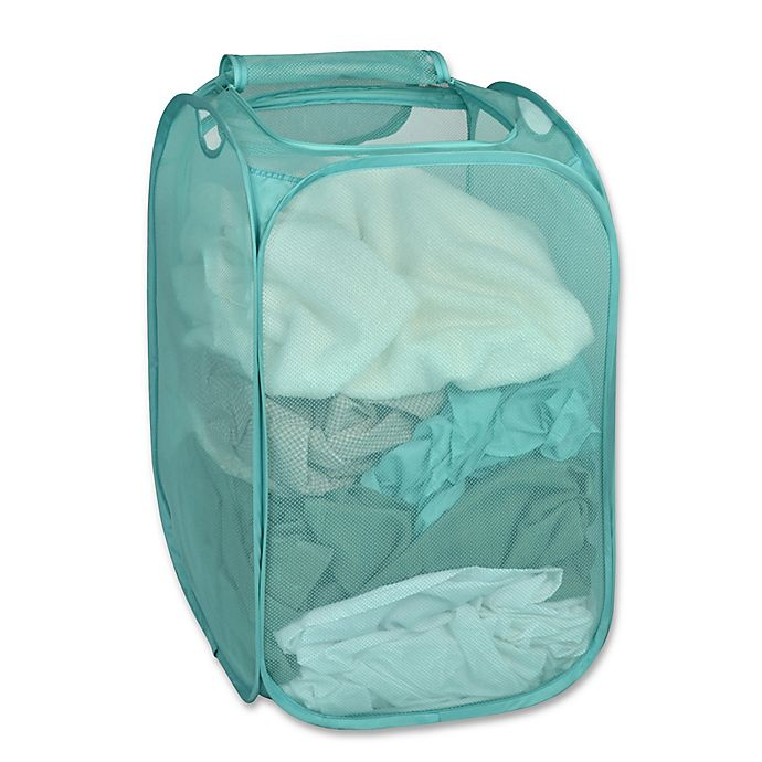 Alternate image 1 for Smart Design Pop-Up Flip Hamper and Basket in Pool Blue