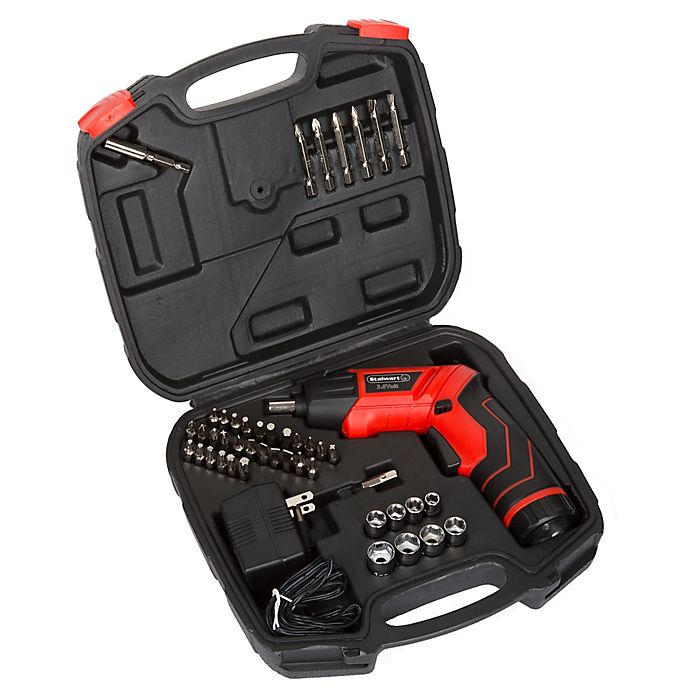 Alternate image 1 for 45-Piece 3.6 Volt LED Recharge Cordless Screwdriver Set
