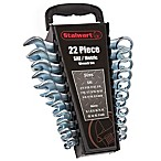 22-Piece Combo SAE & Metric Wrench Set with Carry Case in Black