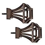 Cambria® Premier Complete Square Birdcage Finials in Oil Rubbed Bronze (Set of 2)