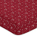 Sweet Jojo Designs Wild West Bandana Fitted Crib Sheet in Red