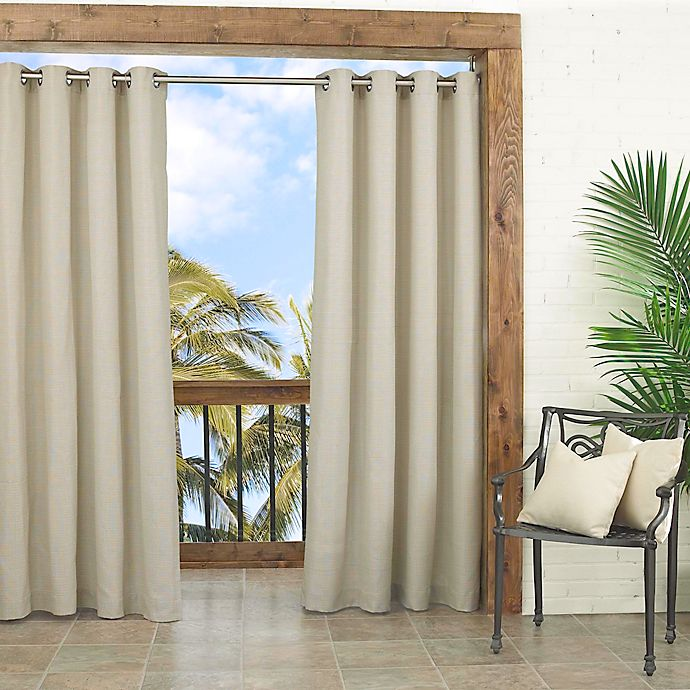 Alternate image 1 for Parasol Key Largo 108-Inch Grommet Top Window Curtain Panel in Oatmeal