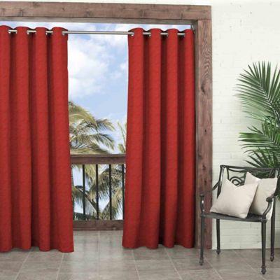 Parasol Key Largo 108-Inch Grommet Top Window Curtain Panel in Chili
