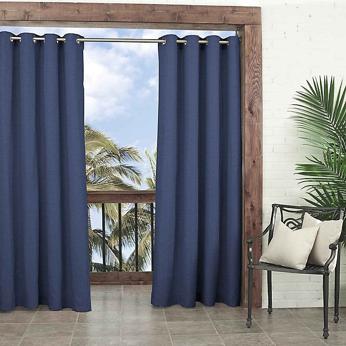 Alternate image 1 for Parasol Key Largo 108-Inch Grommet Top Window Curtain Panel in Indigo