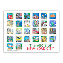 ABC's of New York City Poster Wall Art