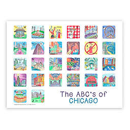 The ABCs of Chicago 18-Inch x 24-Inch Poster Wall Art