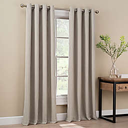 Orion 95-Inch Grommet Top Window Curtain Panel in Stone