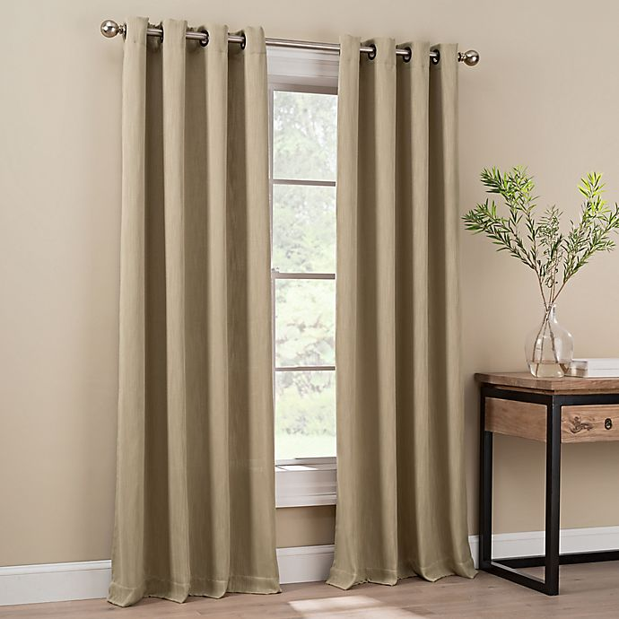 Alternate image 1 for Orion 84-Inch Grommet Top Window Curtain Panel in Linen