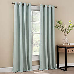 Orion 84-Inch Grommet Top Window Curtain Panel in Spa