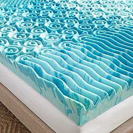 Broyhill 4-Inch GelLux Gel Memory Foam Mattress Topper in Blue