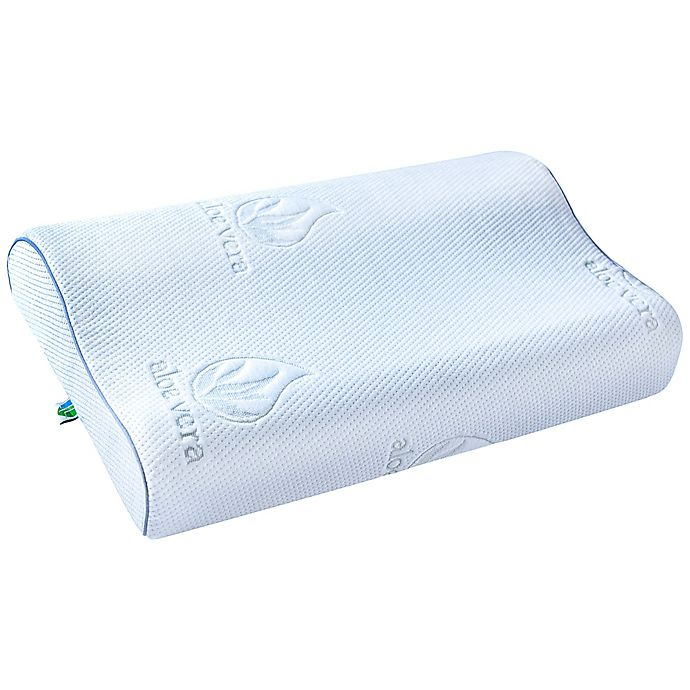 Alternate image 1 for PharMeDoc® Contour Memory Foam Pillow with Cooling Gel