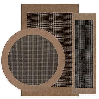 Couristan® Checkered Field Rug in Black/Cocoa