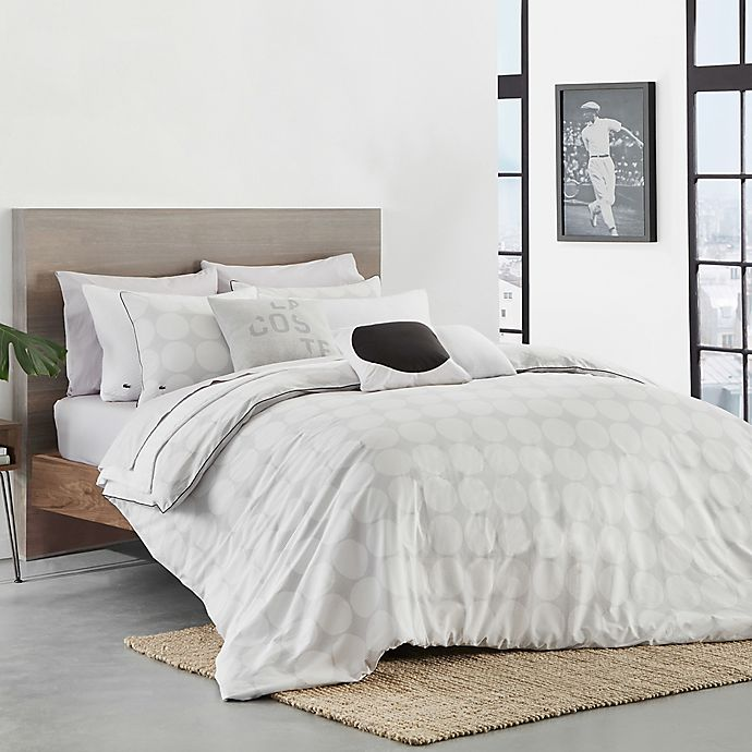 Alternate image 1 for Lacoste™ Hegoa Twin/Twin XL Comforter Set in White/Grey