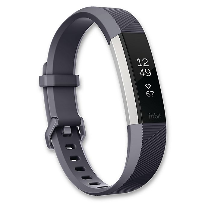 Fitbit® Alta HR™ Fitness Wristband in Blue/Grey | Bed Bath