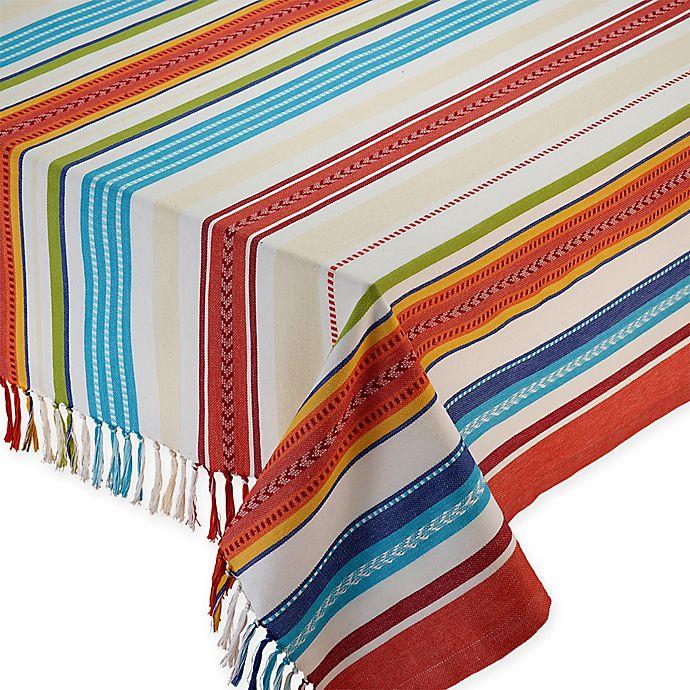 Alternate image 1 for Baja Stripe Tablecloth