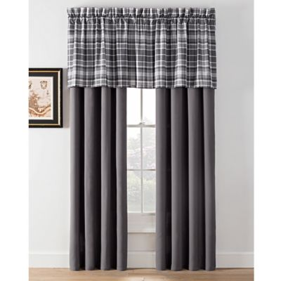 Camden Plaid Window Curtain Panels And Valance Bed Bath