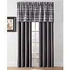 Camden Plaid 24-Inch Straight Window Valance in Charcoal