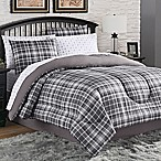 Camden Plaid 8-Piece King Comforter Set in Charcoal