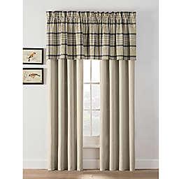 Norfolk Plaid Window Curtain Panels and Valance