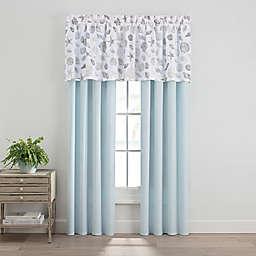 Seashells Window Curtain Panels and Valance