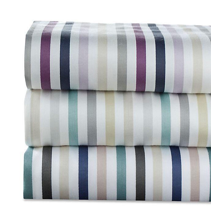 Alternate image 1 for Elite Home Hyde Park 300-Thread-Count Striped Sheet Set