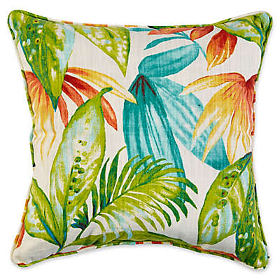 Indoor/Outdoor Throw Pillow Shady Palms