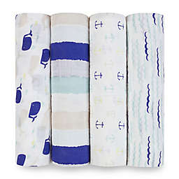 aden® by aden + anais® High Seas 4-Pack Multicolor Classic Muslin Swaddle Blankets