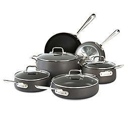 All-Clad HA1 Nonstick Hard-Anodized 10-Piece Cookware Set in Grey