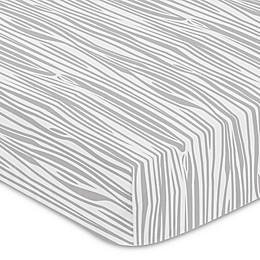 Sweet Jojo Designs® Woodland Deer Wood Grain Fitted Crib Sheet