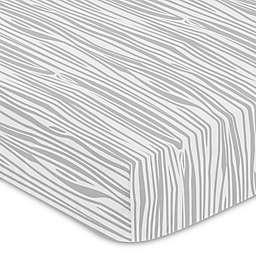 Sweet Jojo Designs® Woodland Deer Wood Grain Fitted Crib Sheet