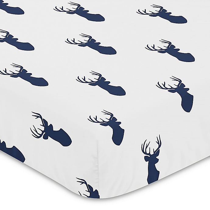 Alternate image 1 for Sweet Jojo Designs® Woodland Deer Fitted Crib Sheet