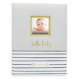 Pearhead Hello Baby Book in Grey