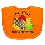 Neat Solutions  My 1st Thanksgiving  Bib in Orange