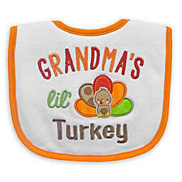 "Neat Solutions ""Grandma's Lil' Turkey"" Bib in White"
