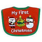 Neat Solutions  My 1st Christmas  Bib in Red