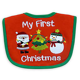 "Neat Solutions ""My 1st Christmas"" Bib in Red"