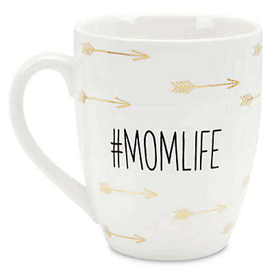 Pearhead #Momlife Mug in White/Gold