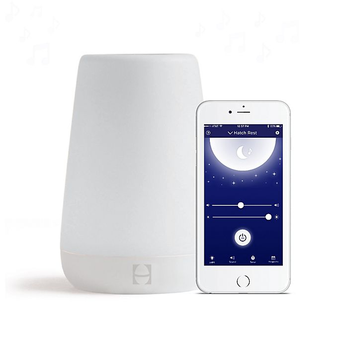Alternate image 1 for Hatch Baby Rest Sound Machine with Night Light in White