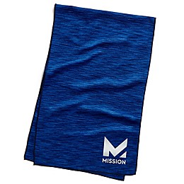 Mission HydroActive Premium Techknit Large Towel in Blue Space Dye