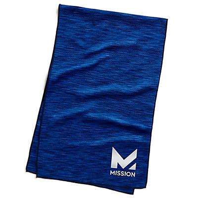 Mission HydroActive Premium Techknit Large Towel in Blue Space Dye
