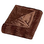 Embossed Faux Mink Full/Queen Blanket in Caramel