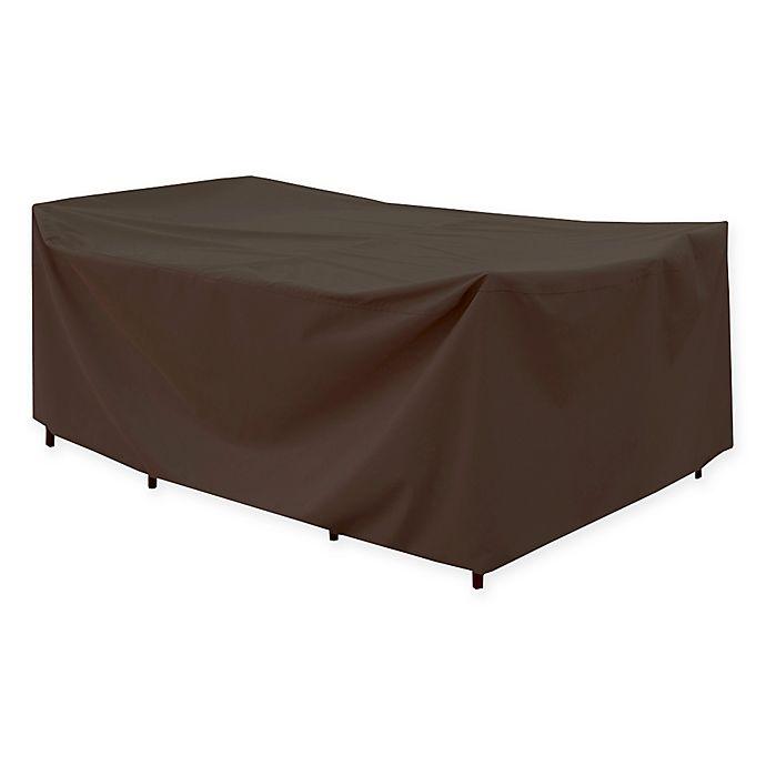 Brilliant Canvas Rectangular Patio Table Cover In Dark Brown Black Download Free Architecture Designs Scobabritishbridgeorg
