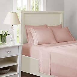 Intelligent Design Ruffled Extra Deep Pocket California King Sheet Set in Pink