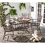 Safavieh Thessaly 5-Piece Outdoor Dining Set in Brown
