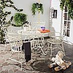 Safavieh Thessaly 5-Piece Outdoor Dining Set in White