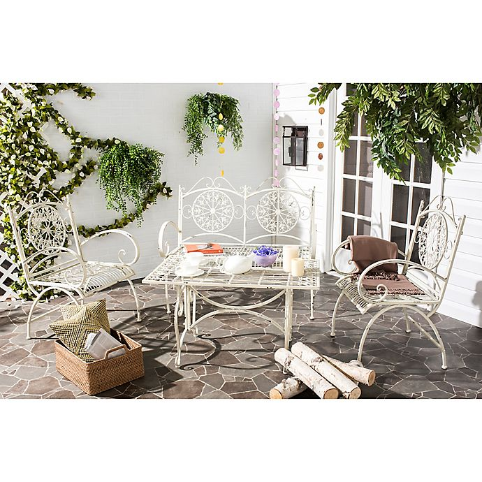 Alternate image 1 for Safavieh Sophie 4-Piece Outdoor Set in White
