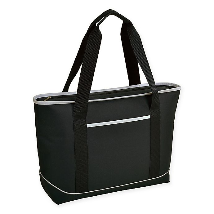 Alternate image 1 for Picnic at Ascot Large Insulated Cooler Tote in Black/White
