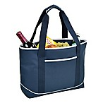 Picnic at Ascot Large Insulated Cooler Tote in Navy/White