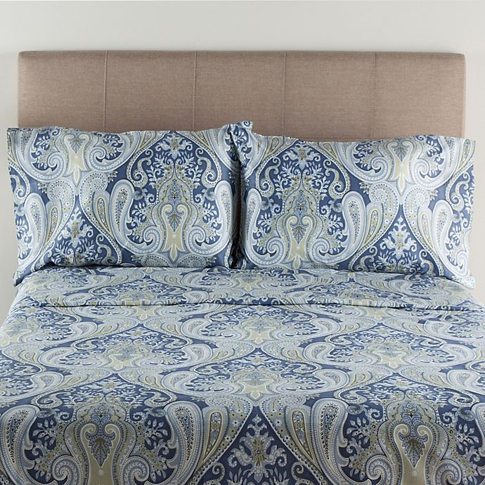 Alternate image 1 for Crystal Palace 300-Thread-Count Full Sheet Set in Blue